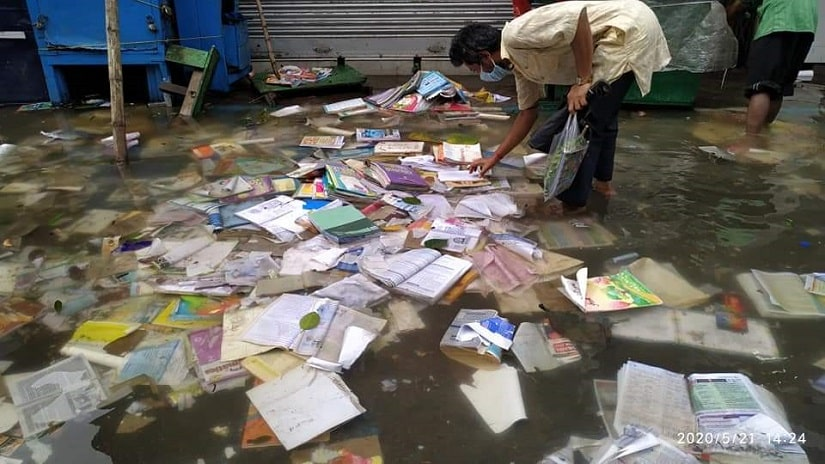 Cyclone Amphan ravages College Street  Kolkatas one of a kind book market