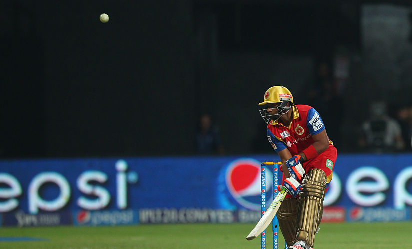 Sarfaraz Khan plays an audacious scoop during 2015 IPL playing for RCB. Sportzpics