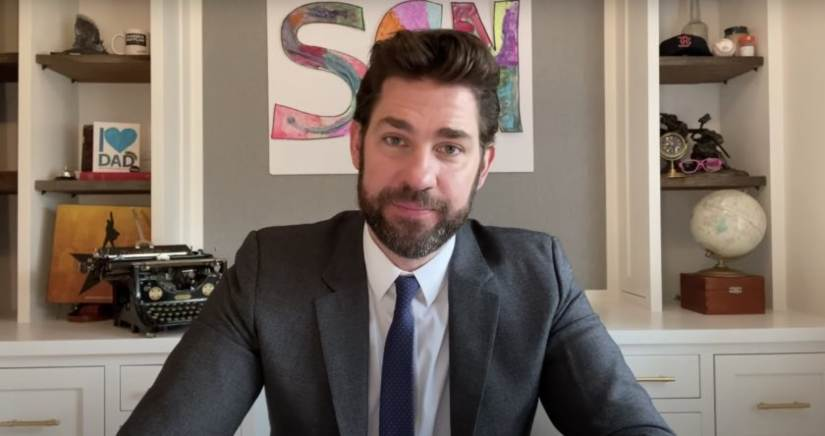 John Krasinski defends decision to sell YouTube series Some Good News after criticism from fans
