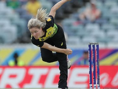 Australia's Nicola Carey has backed calls to try smaller and lighter balls in the women's game. Image: ICC Media