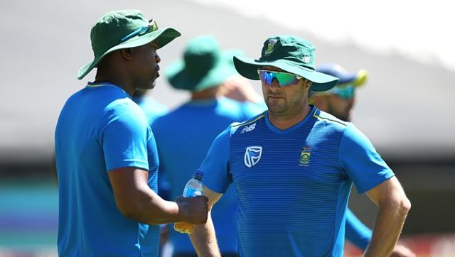 South African cricketers returned to training. Image courtesy: Twitter/@OfficialCSA