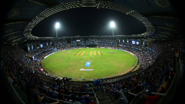 during match 14 of the Vivo Indian Premier League ( IPL ) 2016 between the Mumbai Indians and the Royal Challengers Bangalore held at the Wankhede Stadium in Mumbai on the 20th April 2016 Photo by Sandeep Shetty / IPL/ SPORTZPICS