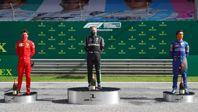 Formula 1 2020 Mercedes Valtteri Bottas wins seasonopening Austrian GP Lewis Hamilton finishes fourth