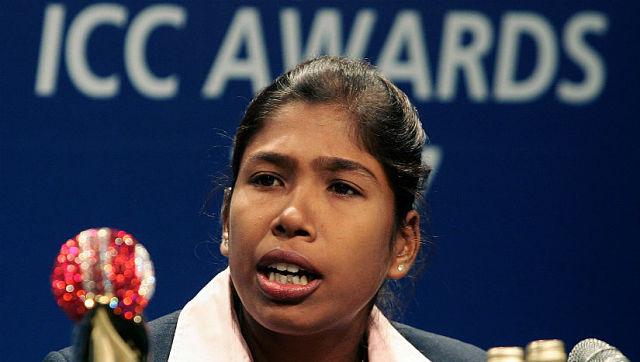 File photo of Jhulan Goswami. AFP