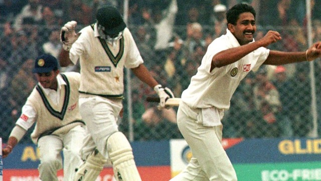 Anil Kumble is one of the only two bowlers who have picked all 10 wickets in a Test innings. Reuters