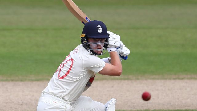 Ollie Pope scored a gritty 91 for England in 1st innings of third Test against West Indies. AP
