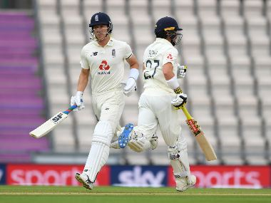 Rory Burns and Joe Denly will have the task cut out for England after losing Dominic Sibley early. AP