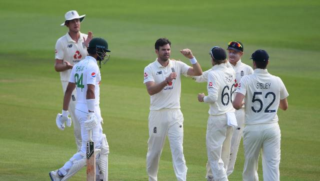 James Anderson had taken 2-35 from 15 overs to move to within eight wickets of becoming the first paceman with 600 in Tests. AP