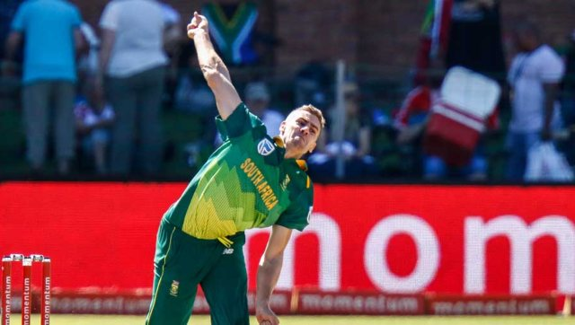 File image of South Africa pacer Anrich Nortje. AFP