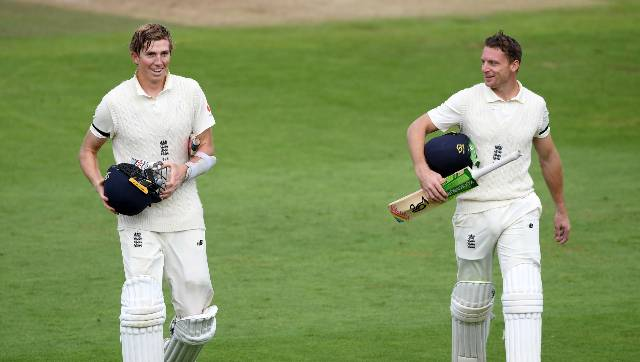 England closed on 332-4, with the fifth-wicket stand between Crawley and Buttler (87) worth 205 and Pakistan's bowlers looking demoralized in the isolated environment of the Rose Bowl. AP