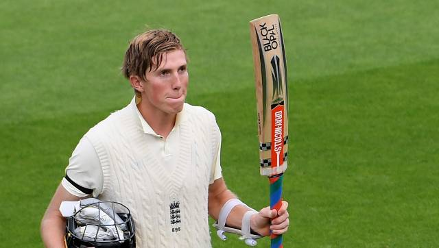 Zak Crawley, whose previous Test-best was the 76 he made against the West Indies at Southampton in July, had to spend the 20-minute tea interval on 97 not out. AP