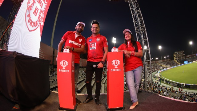 Dream 11 Activity during match 52 of the Vivo Indian Premier League Season 12, 2019 between the Kings XI Punjab and the Kolkata Knight Riders held at the IS Bindra Stadium, Mohali on the 3rd May 2019 Photo by: Arjun Singh /SPORTZPICS for BCCI