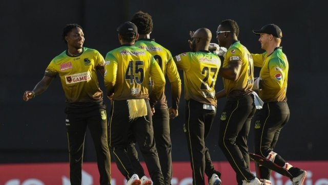 Fidel Edwards took 3 for 30 as Jamaica Tallawahs beat Guyana Amazon Warriors. Image: Twitter/@CPL