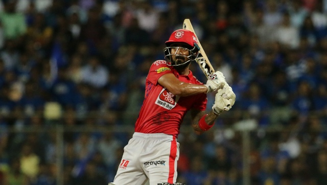 KL Rahul of Kings XI Punjab plays a shot during match 24 of the Vivo Indian Premier League Season 12, 2019 between the Mumbai Indians and the Kings XI Punjab held at the Wankhede Stadium in Mumbai on the 10th April 2019 Photo by: Vipin Pawar /SPORTZPICS for BCCI