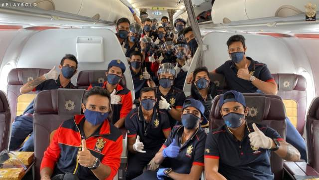 All three teams posted their departure photos on social media. Image: Twitter @RCBTweets