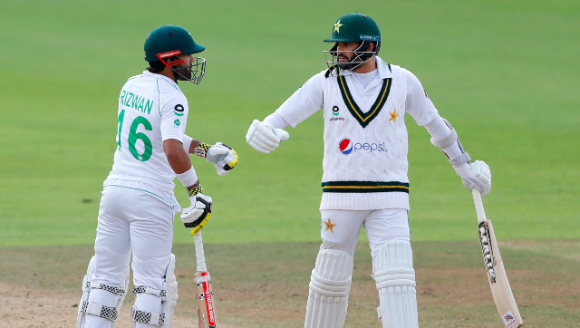 Azhar Ali shared a 138-run sixth-wicket stand with Mohammad Rizwan to help Pakistan put up some fight on Day 3. AP