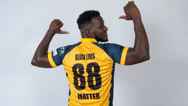 St Lucia Zouks skipper Daren Sammy is supporting the Black Lives Matter campaign. Image courtesy: CPL