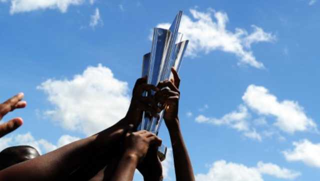 File image of the T20 World Cup trophy. AFP