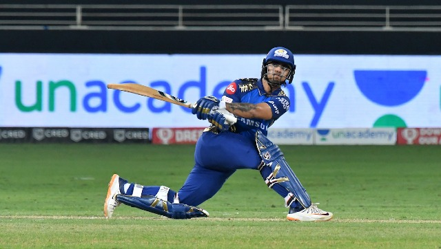 Mumbai Indians' Ishan Kishan in action against Royal Challengers Bangalore during match 10 of the Indian Premier League (IPL) 2020. Sportzpics