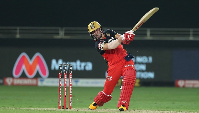 RCB's AB de Villiers in action against Mumbai Indians during during match 10 of the Indian Premier League (IPL) 2020. Sportzpics
