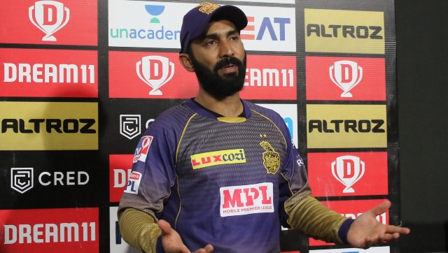 Dinesh Karthik has thrown his weight behind his pace spearhead Pat Cummins. Image courtesy: Pankaj Nangia / Sportzpics for BCCI