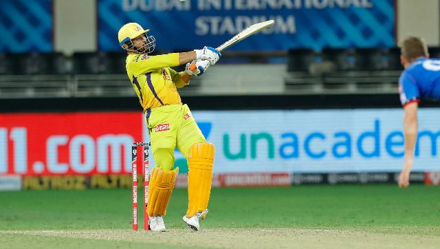 """After CSK's 44-run defeat at the hands of Delhi Capitals in Dubai on Friday, Dhoni said his batting unit was lacking """"a bit of steam"""" while the spinners were """"yet to come to the party"""". Sportzpics"""