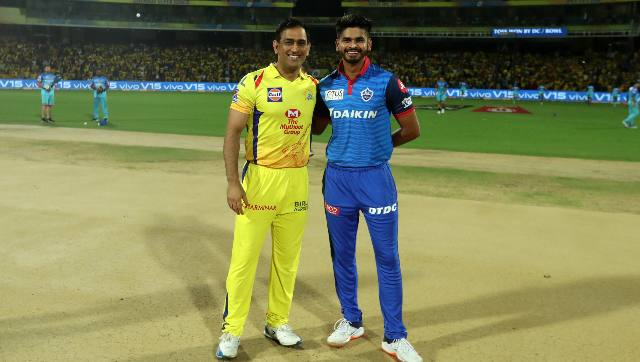 File image of CSK skipper MS Dhoni asnd his DC counterpart Shreyas Iyer. Sportzpics