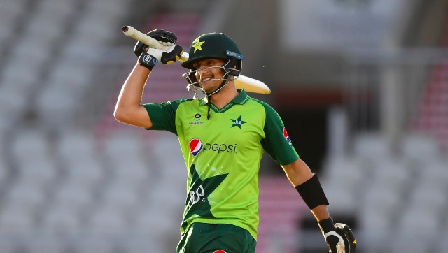 Debutant Haider Ali smashed 54 off 33 balls in the third T20I against England at Manchester. AP