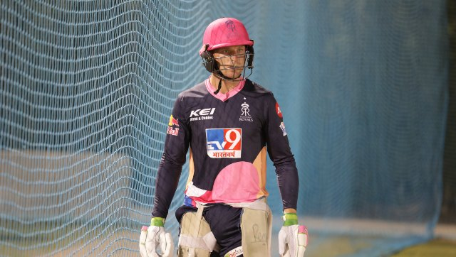 RR's Jos Buttler missed the first match due to quarantine rules. Image: Twitter/@rajasthanroyals