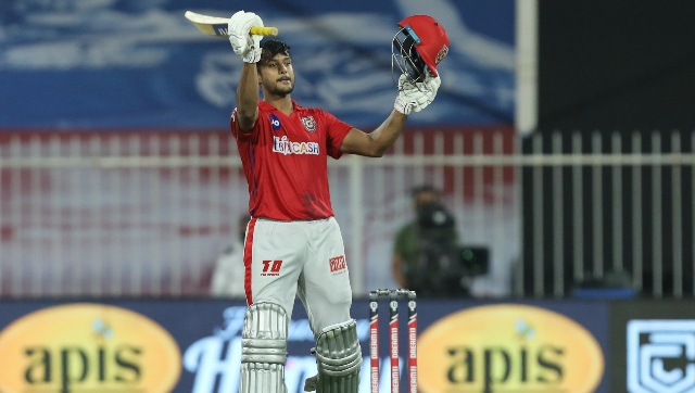Mayank Agarwal scored his maiden IPL ton, but the effort went in vain. Image courtesy: Arjun Singh / Sportzpics for BCCI