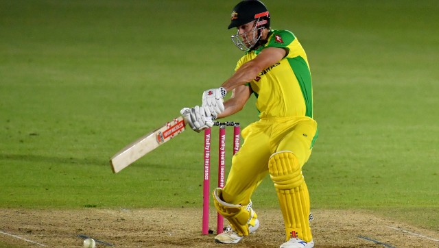 Mitchell Marsh marked his return to international cricket with an unbeaten 39 as Australia defeated England by 5 wickets. AP