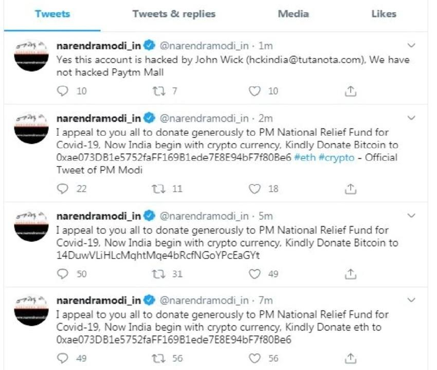 Twitter confirms account of Prime Minister Narendra Modi`s personal website hacked
