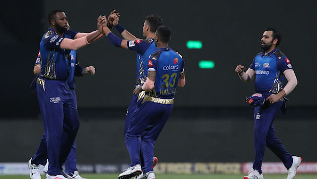 James Pattinson of Mumbai Indians cShubman Gill of Kolkata Knight Riders elebrates the wicket of during match 5 of season 13 of Indian Premier League (IPL) between the Kolkata Knight Riders and the Mumbai Indians held at the Sheikh Zayed Stadium, Abu Dhabi in the United Arab Emirates on the 23rd September 2020. Photo by: Pankaj Nangia / Sportzpics for BCCI