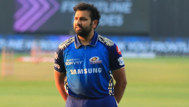 Rohit Sharma captain of Mumbai Indians line up or front line heroesduring match 1 of season 13 Dream 11 of Indian Premier League (IPL) held at the Sheikh Zayed Stadium, Abu Dhabi in the United Arab Emirates on the 19th September 2020. Photo by: Rahul Goyal / Sportzpics for BCCI
