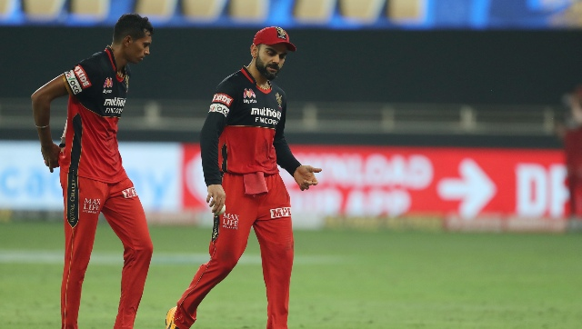 RCB defeated Mumbai Indians via Super Over after the original game was tied. Saini bowled the Super Over for RCB conceding only seven runs. Image courtesy: Sportzpics