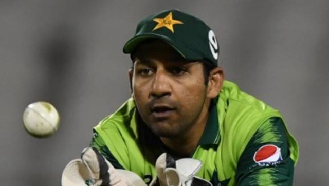 Sarfaraz Ahmed didn't get to bat but in the final overs, in a pressure situation, he was seen advising Babar Azam. AFP