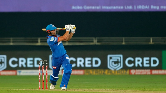 Marcus Stonis' turbo-charged fifty propelled DC to a fighting total. Image courtesy: Twitter/@DelhiCapitals
