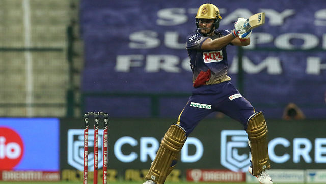 Shubman Gill of Kolkata Knight Riders plays a shot during their Indian Premier League match against Sunrisers Hyderabad. Sportzpics