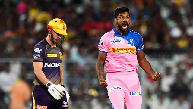 Varun Aaron (R) showed glimpses of old self in last year's IPL against KKR, swinging them at pace and shattering stumps to earn the man of the match award. AFP
