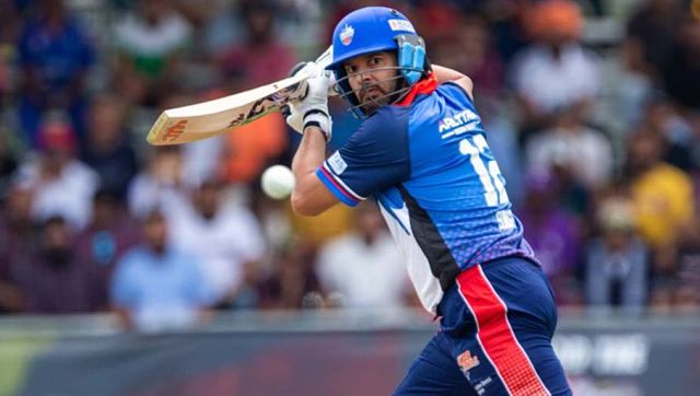 Yuvraj Singh in action for the Toronto Nationals. Twitter@GT20Canada