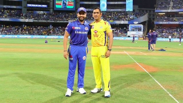 File image of Rohit Sharma and MS Dhoni, captain of Mumbai Indians and Chennai Super Kings respectively. Sportzpics