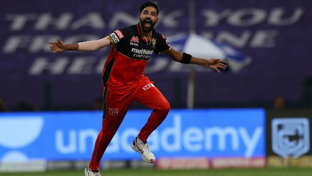 RCB's Mohammed Siraj returned with sensational figures of 4-2-8-3 against KKR and was adjudged the Man of the Match. Sportzpics