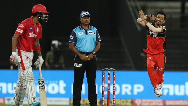 RCB's premier leg-spinner Yuzvendra Chahal didn't complete his quota of overs against KXIP. Image: Sportzpics