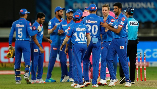 Delhi Capitals' pacers, backed by teh exerienced R Ashwin, stole the show against Rajasthan Royals. Image: Sportzpics