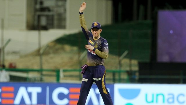 The MI match was Eoin Morgan's first as captain of KKR. Image: Sportzpics for BCCI
