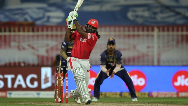'Universe Boss' Chris Gayle has hit the straps straightaway, giving much-needed heft to KXIP's middle-order. Image: Sportzpics