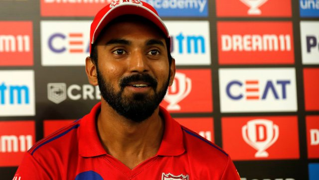 KXIP skipper KL Rahul said it was a relief to see his team finish the game in 19th over. Image: Sportzpics for BCCI