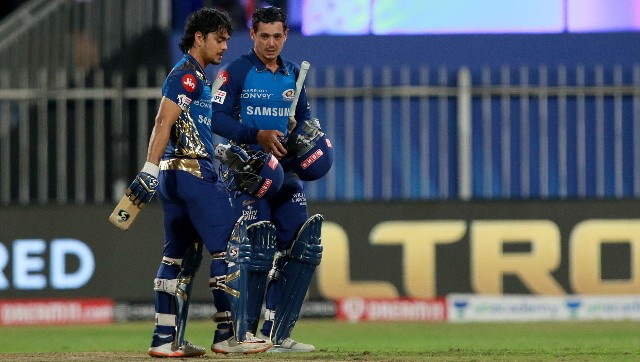 In Rohit Sharma's absence, Ishan Kishan (left) and Quinton de Kock will be expected to share more responsibility for Mumbai Indians. Image: Sportzpics