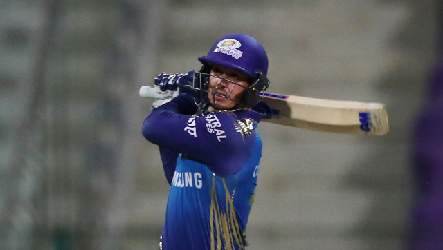 South African wicketkeeper-batsman Quinton de Kock has been the leading run-getter for Mumbai Indians so far in IPL 2020. Sportzpics