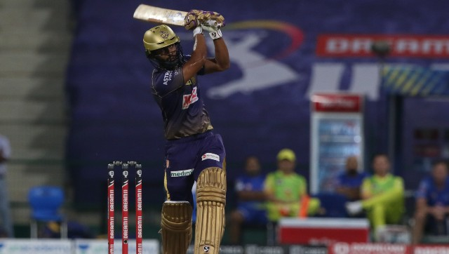 KKR's Rahul Tripathi made full use of his promotion and stroked his way to a match-winning 81. Image courtesy: Sportzpics